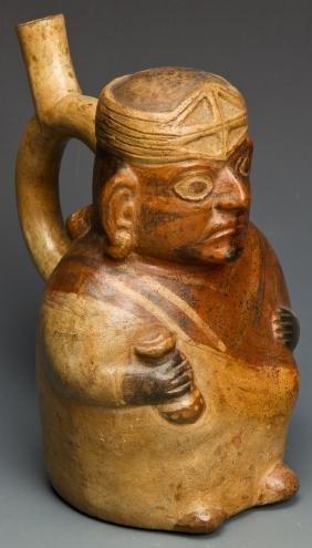 Pre Columbian Moche Stirrup Vessel