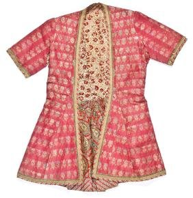 19th C. Persian or Indian Silk Brocade Short Sleeve