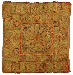 Outstanding Antique Indian Kashmiri Embroidery