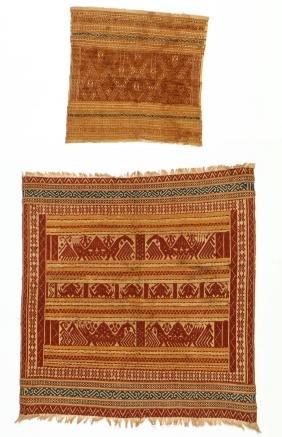 2 Antique Tampan/Ceremonial Cloths, Sumatra, Indonesia