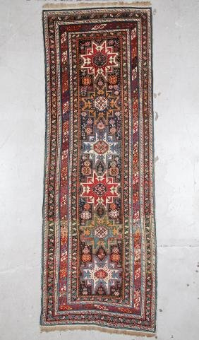 Fine Antique Shirvan Lesghi Rug 3'8'' x 10'8''