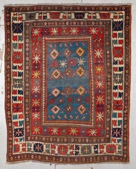 Antique Kazak Rug: 5'7'' x 7' (170 x 213 cm)