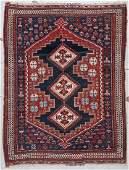 Antique Afshar Rug: 3'8'' x 4'11'' (112 x 150 cm)