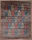 Vintage Indian Silk Rug 153 x 119 465 x 358 cm