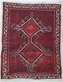 Semi-Antique Afshar Rug: 3'7'' x 4'8''