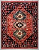 Vintage Afghan Rug: 7'7'' x 9'11'' (231 x 302 cm)