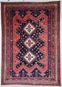 """Semi-Antique Afshar Rug: 5'6"""" x 7'9"""" (168 x 236 cm)"""