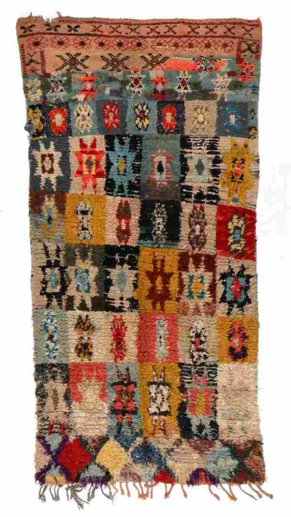 Vintage Moroccan Rug: 4'0'' x 7'9'' (122 x 236 cm)