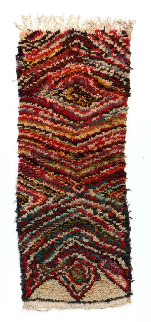 Vintage Moroccan Rug: 2'4'' x 6'0'' (71 x 183 cm)