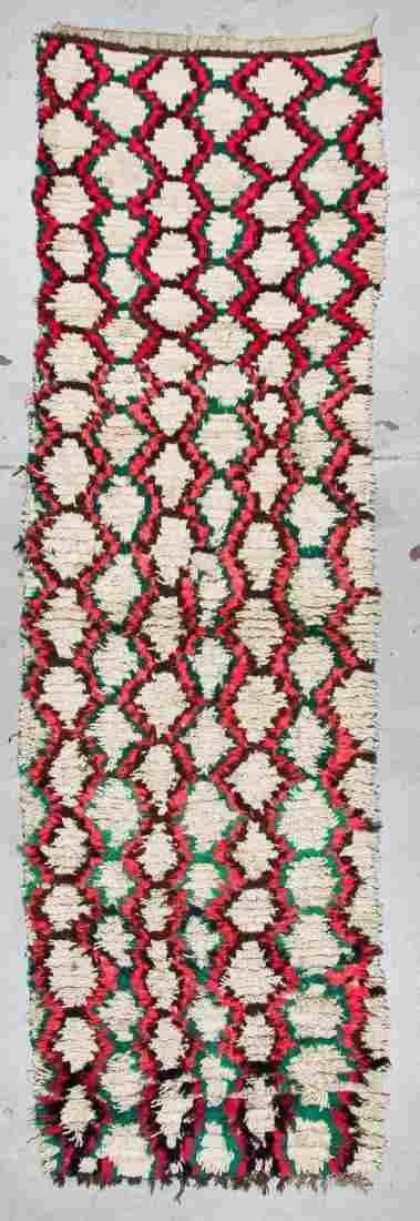 Vintage Moroccan Rug: 3'3'' x 10'7'' (99 x 323 cm)
