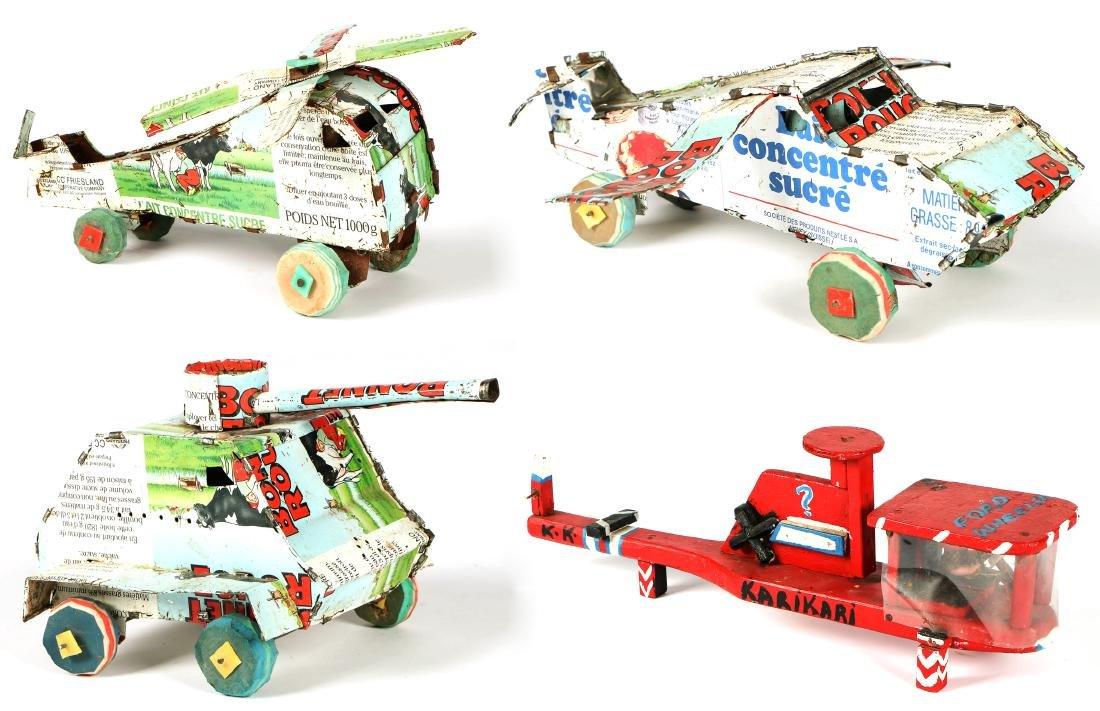 4 African Tin Toys