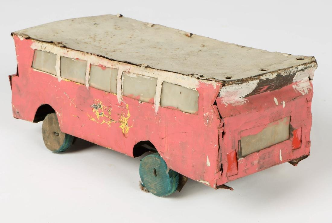 6 African Scrap Metal and Wood Toy Vehicles - 2