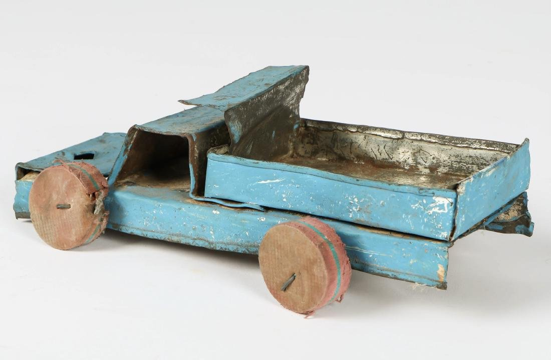 6 African Scrap Metal and Wood Toy Vehicles - 5