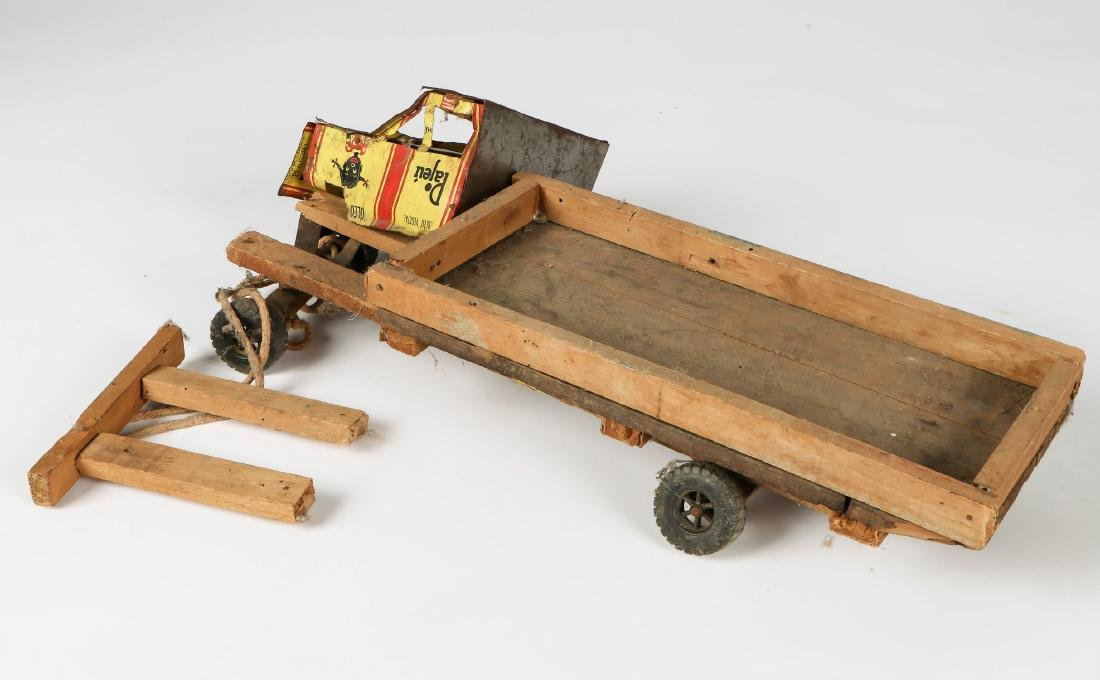 6 African Scrap Metal and Wood Toy Vehicles - 6