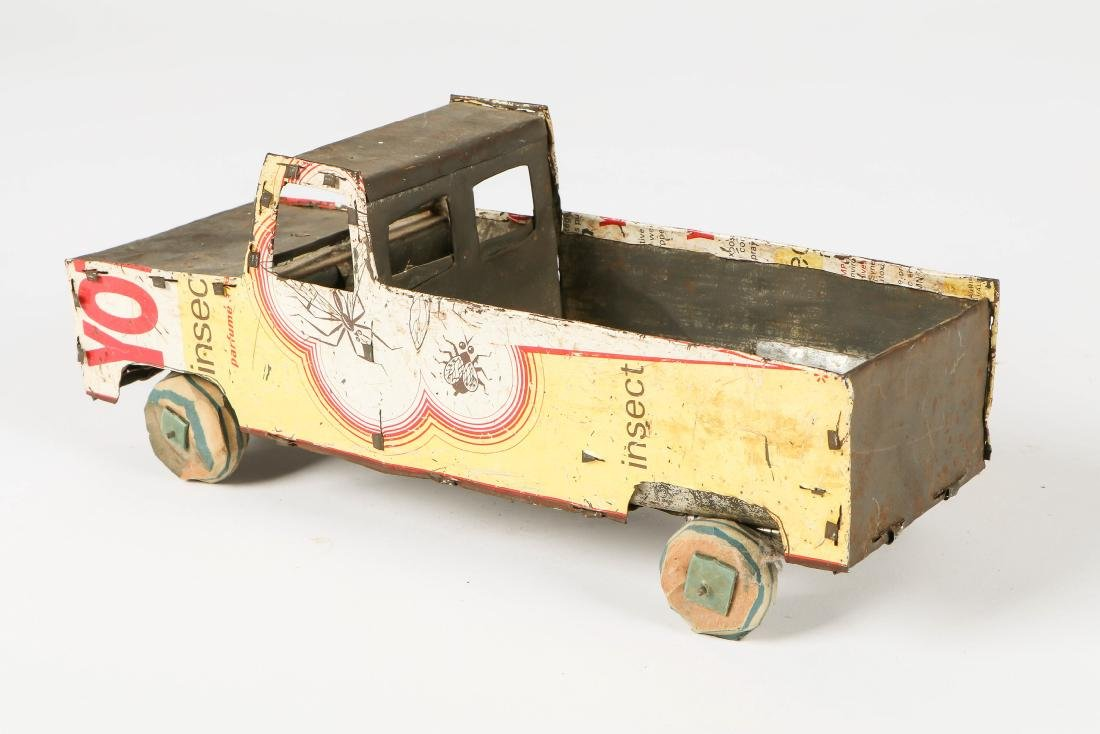 6 African Scrap Metal and Wood Toy Vehicles - 7