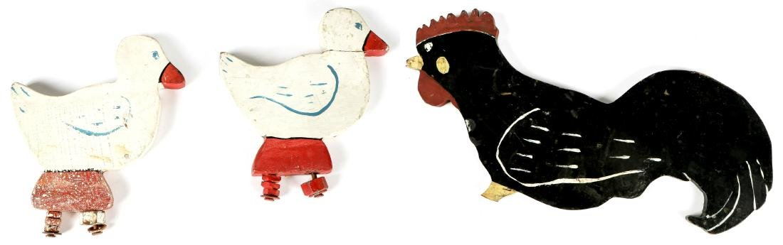 American Folk Art: 2 Ducks and 1 Rooster
