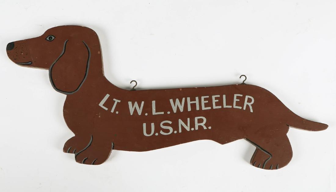 Vintage US Navy Dachshund Sign