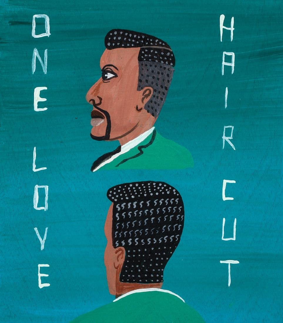 "Javier Mayoral (American, 20th c.) ""One Love Hair Cut"""
