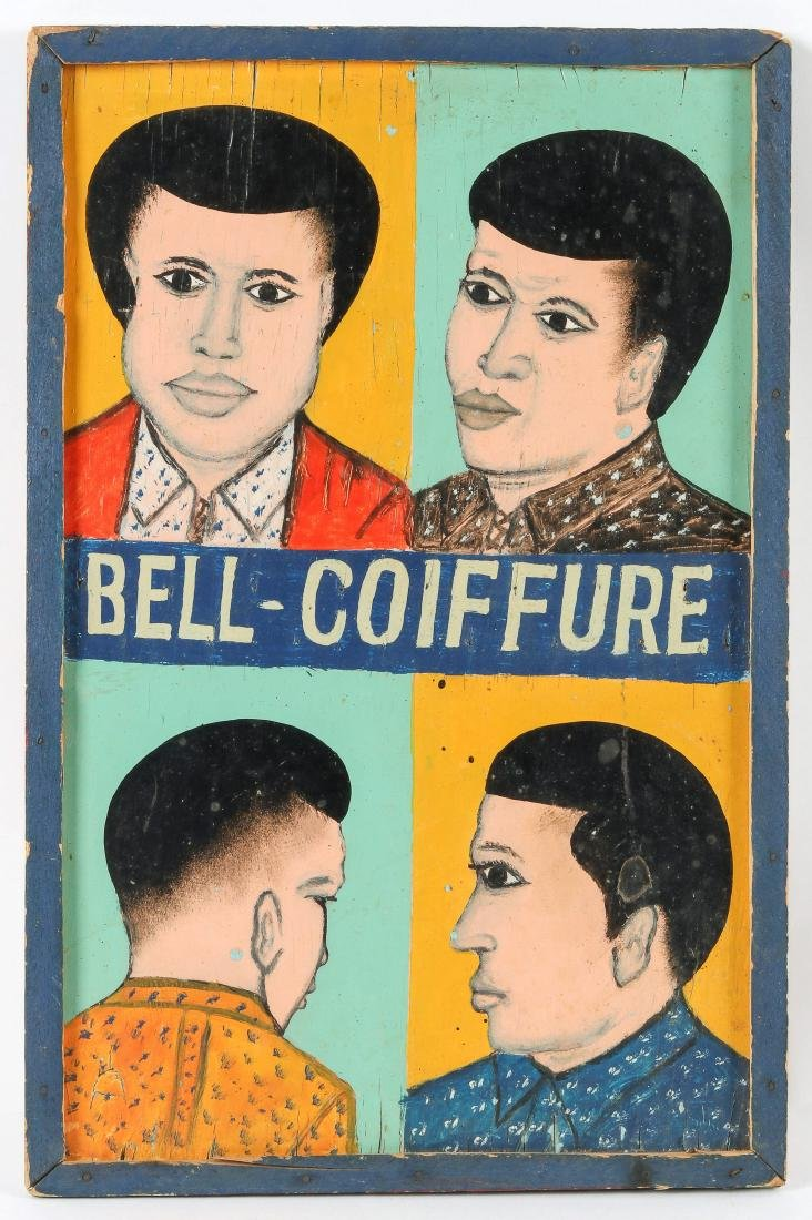 "West-African ""Bell-Coiffure"" Advertising Sign"