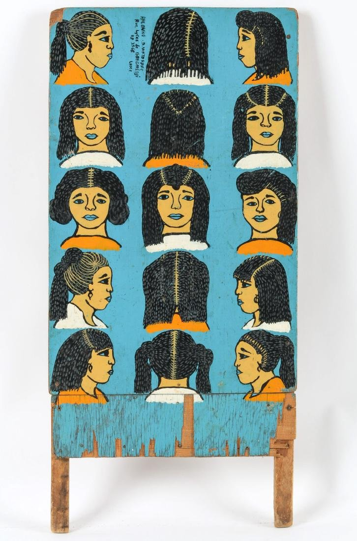 Togo Hand-painted Hair Braiding Sign