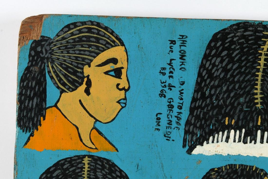 Togo Hand-painted Hair Braiding Sign - 2