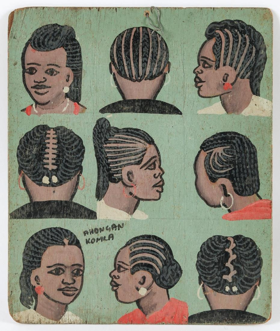 Hand-painted Togo Hair Braiding Sign