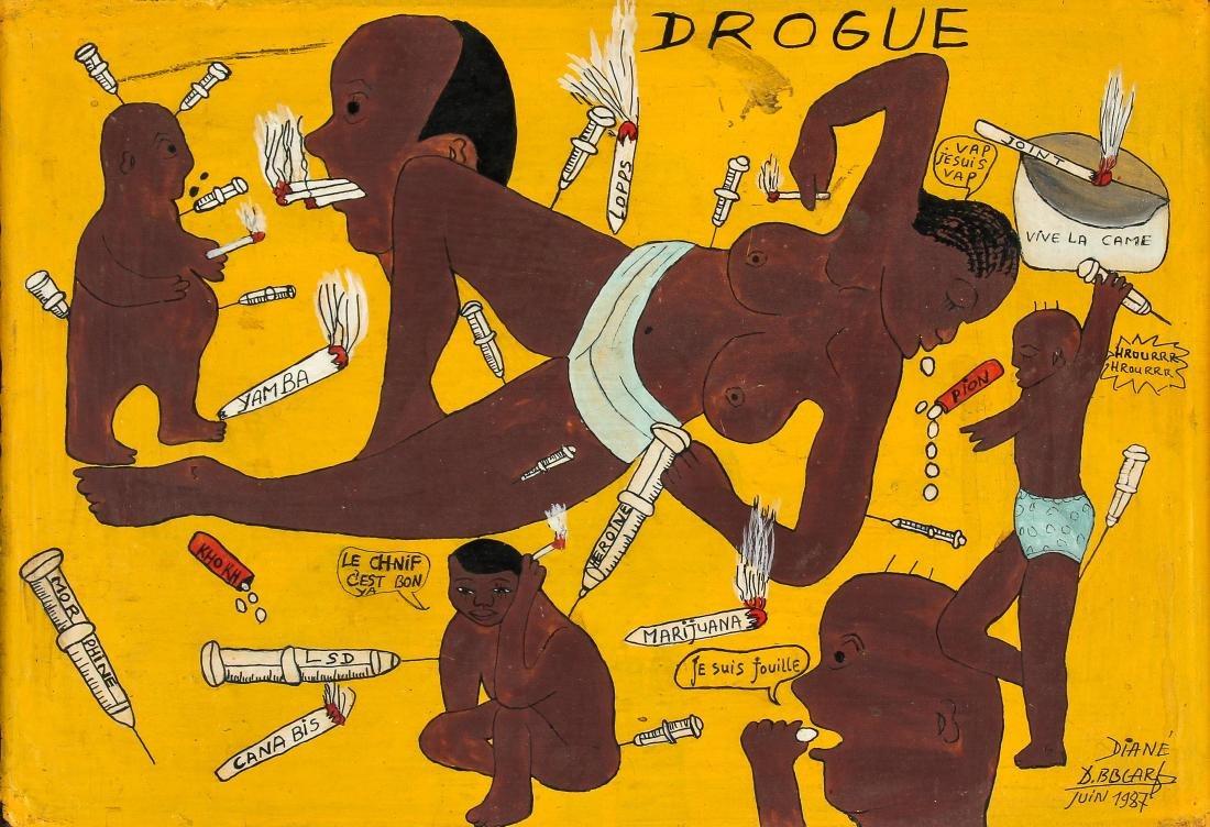 "Diane Boubacar (African, 20th c.) ""Drogue"", 1987"