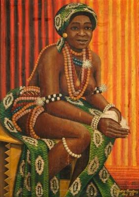 Nketia-Boateng (African, 20th c.) Portrait of a Woman