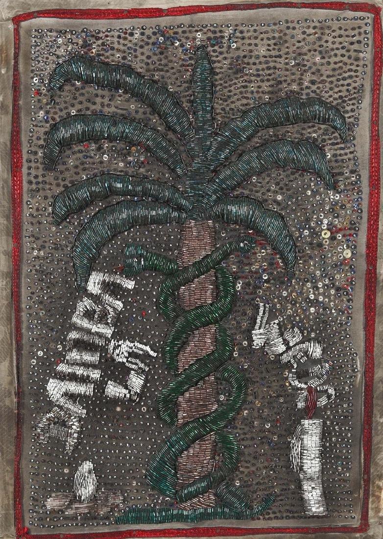 """Haitian """"Damballa"""" Flag (20th c.)"""