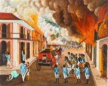 The Burning of Cap-Haïtien by Haitian Revolutionary