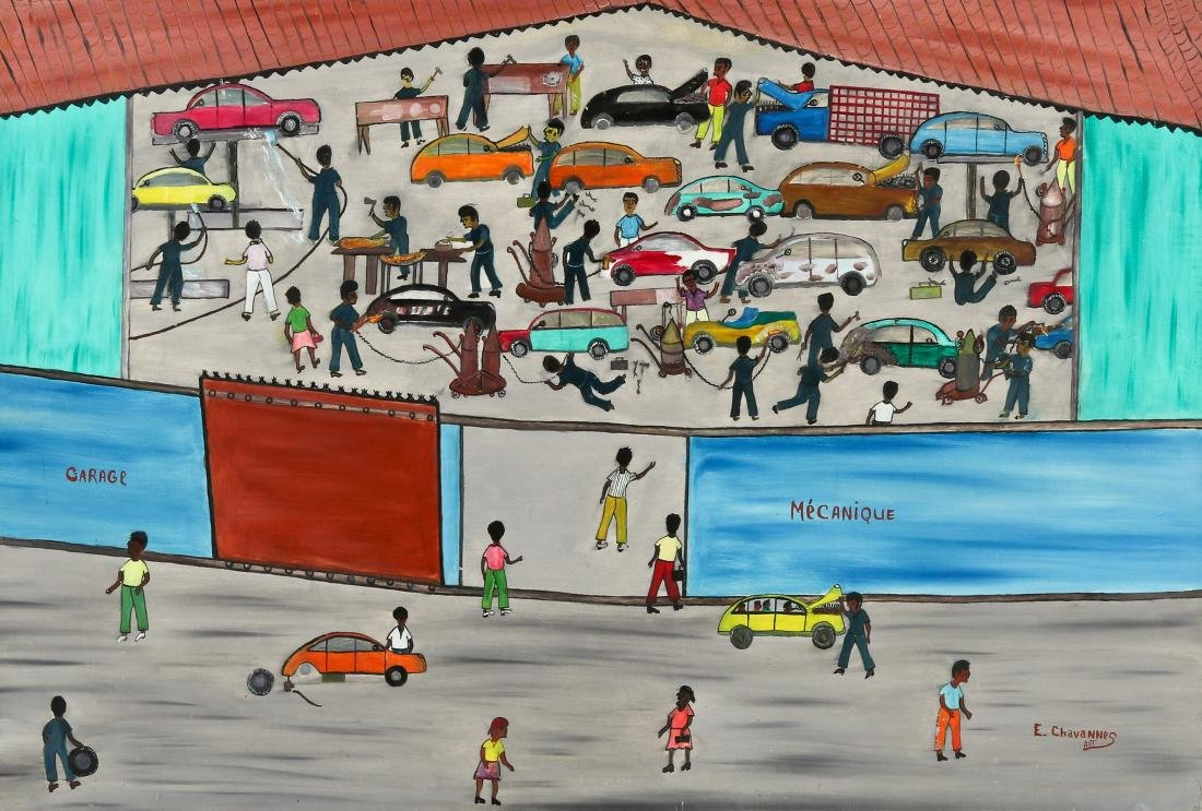 Etienne Chavannes (Haitian/Cap-Haïtien, b. 1939) Garage