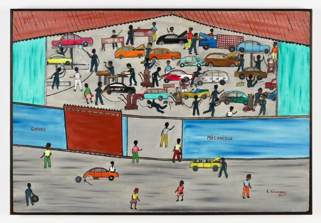 Etienne Chavannes (Haitian/Cap-Haïtien, b. 1939) Garage - 2