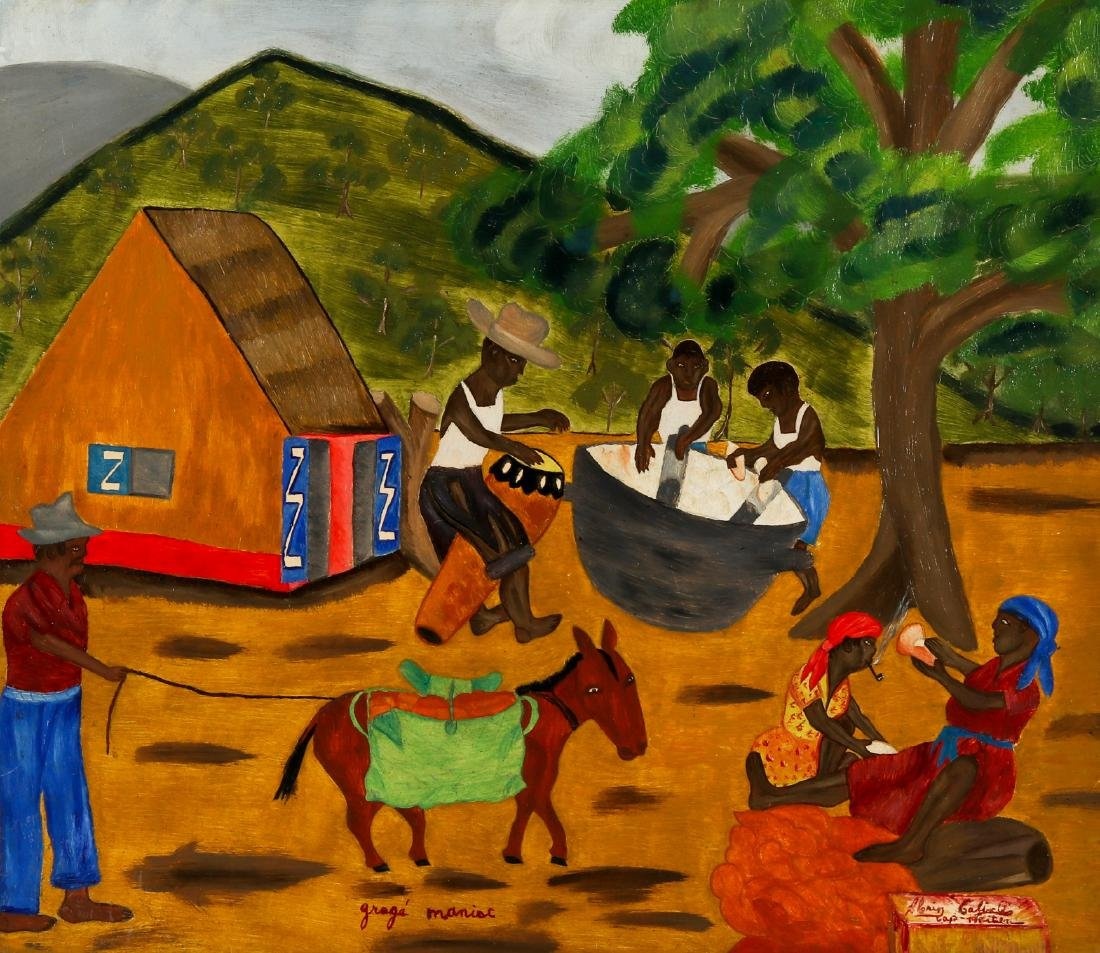 Henri Calixte (Haitian/Cap-Haïtien, 20th c.) Gragé
