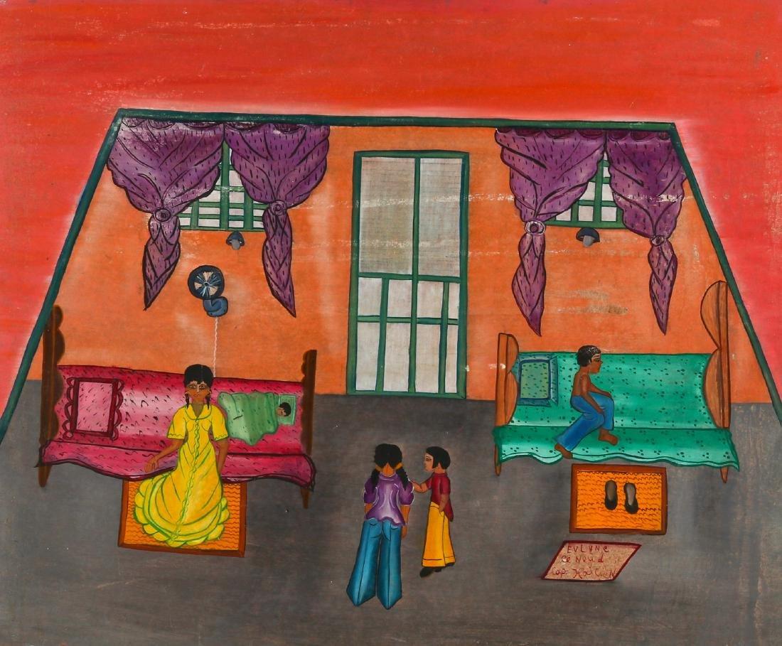 Evelyne Cenoud (Haitian/Cap-Haïtien, 20th c.) Interior