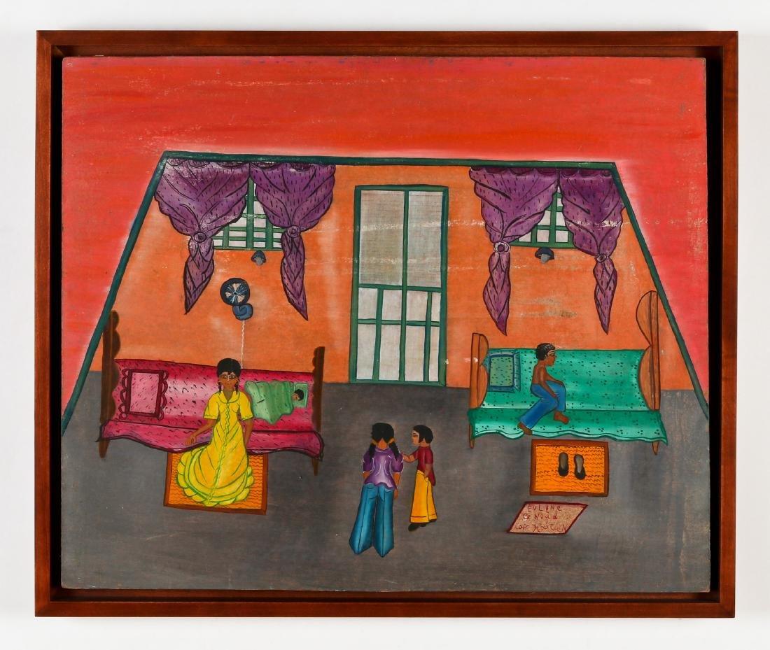 Evelyne Cenoud (Haitian/Cap-Haïtien, 20th c.) Interior - 2