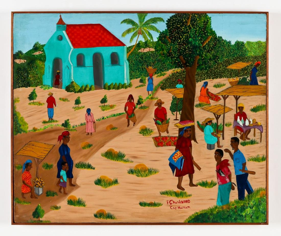 F. Cherizard (Haitian/Cap-Haïtien, 20th c.) Arrest at - 2