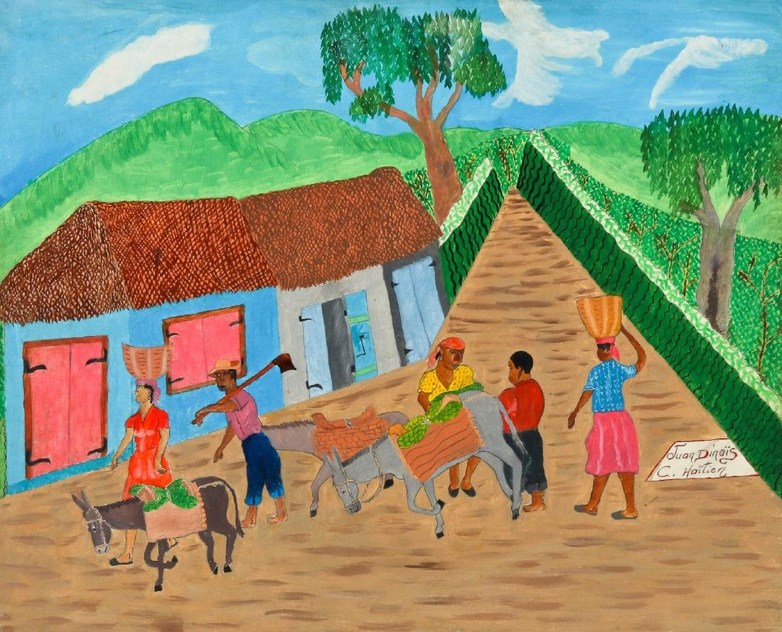 Juan Dinais (Haitian/Cap-Haïtien) On Way to Market
