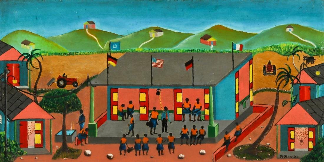 M. Merisier (Haitian, 20th c.) School Yard