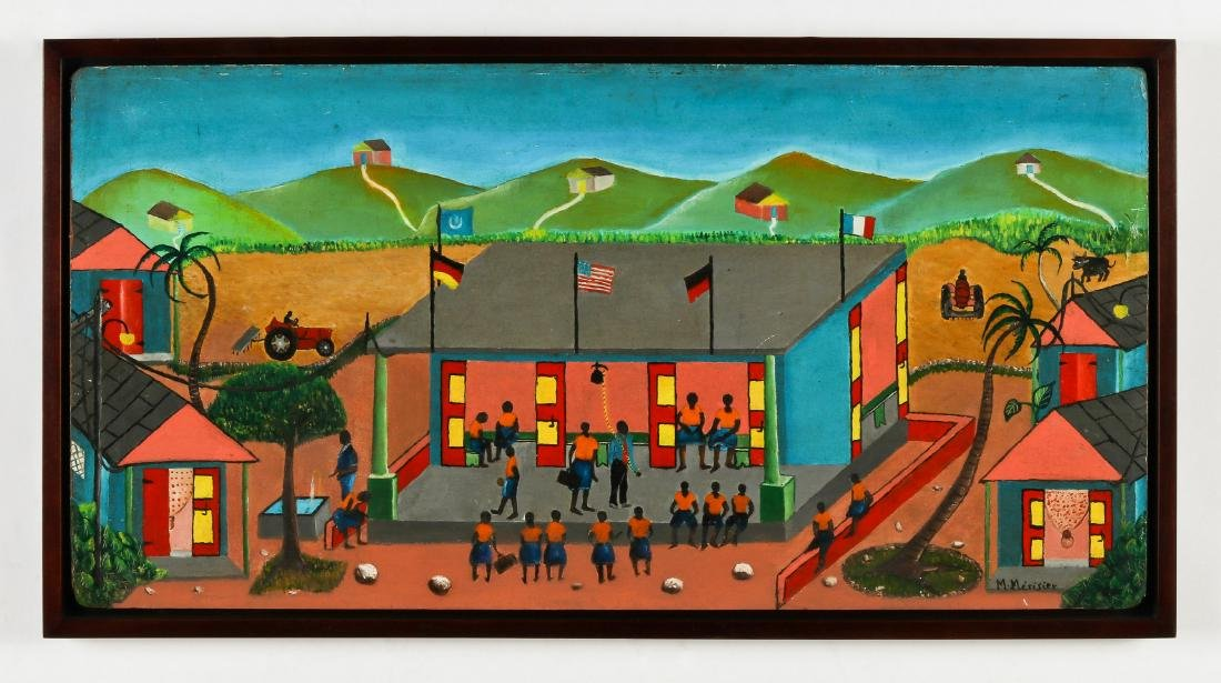 M. Merisier (Haitian, 20th c.) School Yard - 2