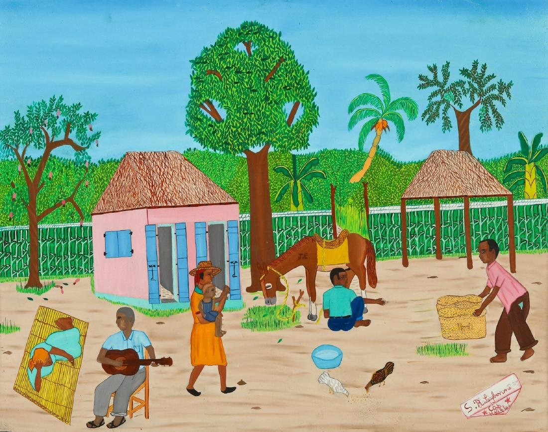 S.R. Laybonne (Haitian/Cap-Haïtien, 20th c.) Rural Life