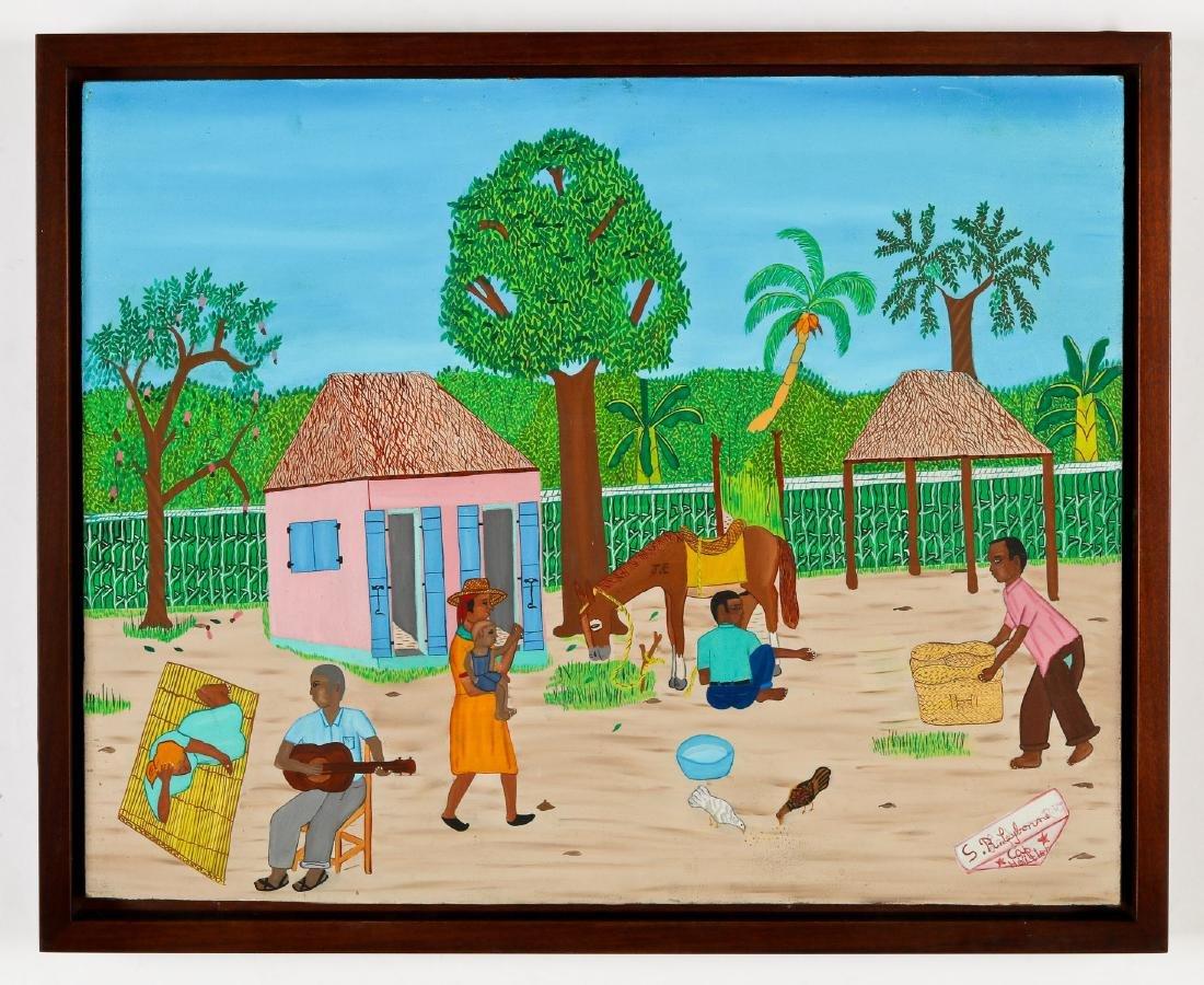 S.R. Laybonne (Haitian/Cap-Haïtien, 20th c.) Rural Life - 2