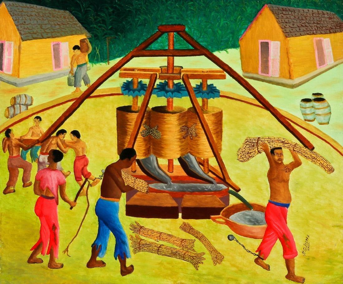Jn G. Joseph (Haitian, 20th c.) Sugar Cane Slavery