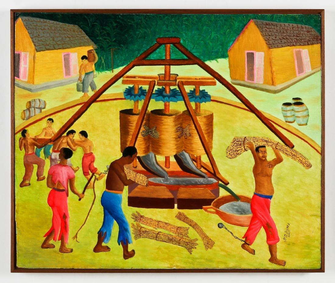 Jn G. Joseph (Haitian, 20th c.) Sugar Cane Slavery - 2