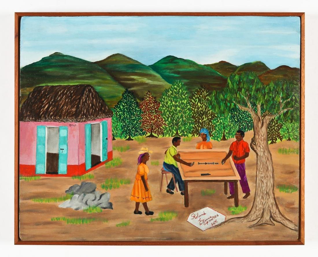 Roland Etienne (Haitian/Cap-Haïtien, 20th c.) Playing - 2