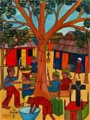 J. Dubic (Haitian, 20th c.) Vodun Ceremony, Cap-Haïtien