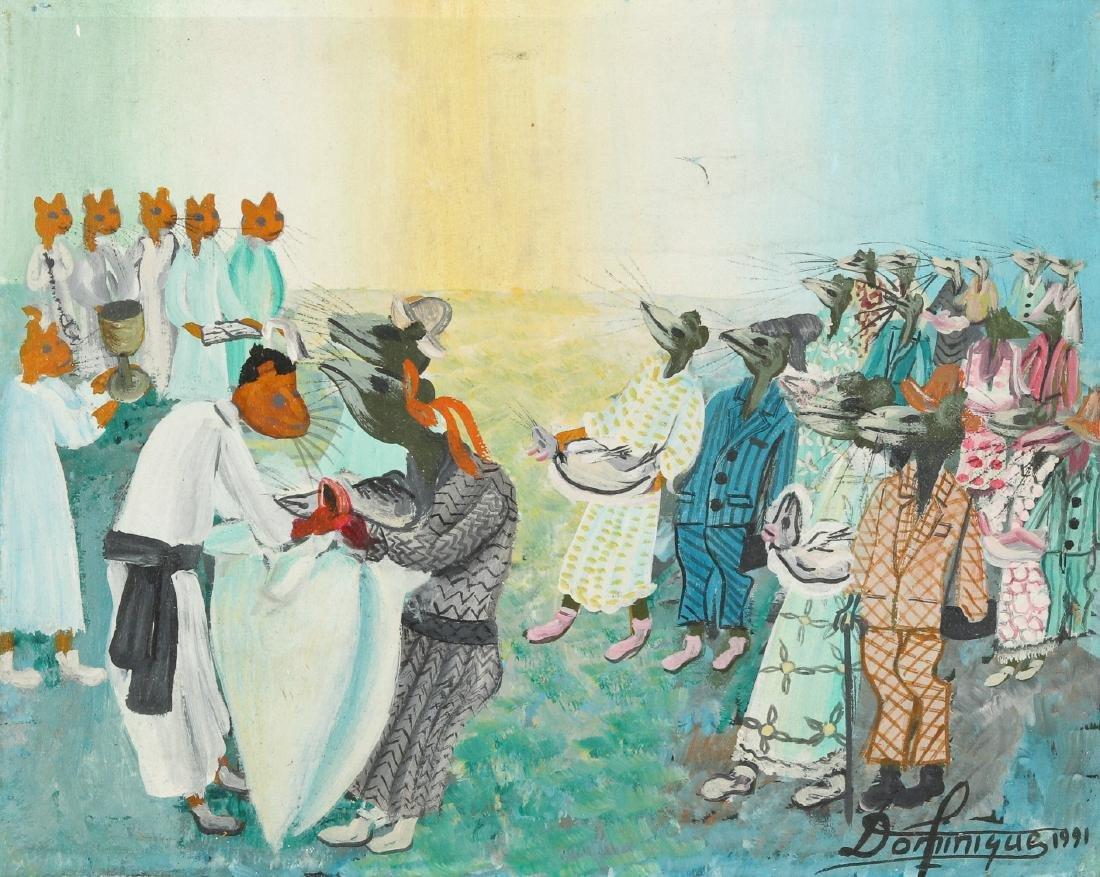 Dominique (Haitian, 20th c.) Animals Make Ceremonial