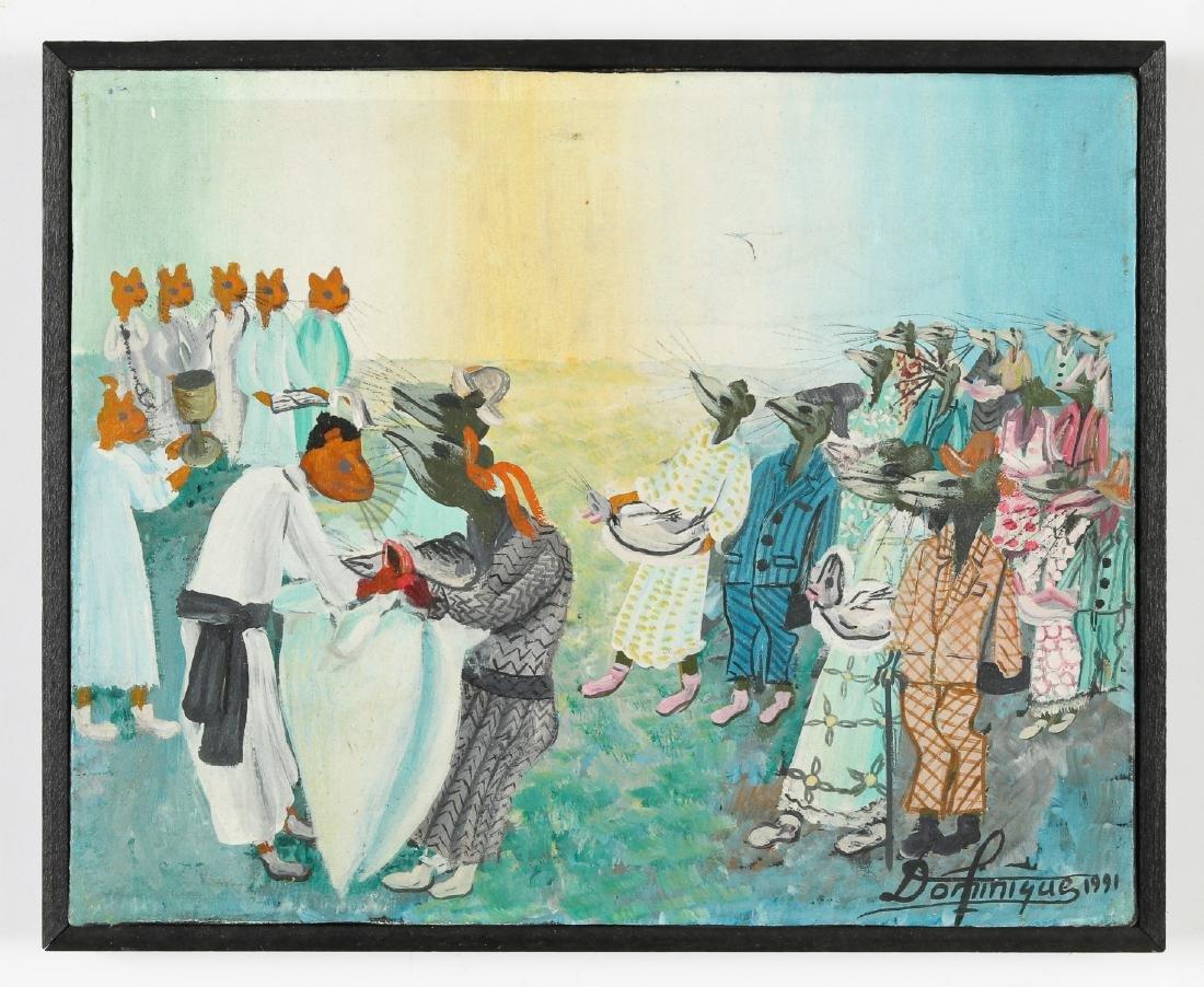 Dominique (Haitian, 20th c.) Animals Make Ceremonial - 2