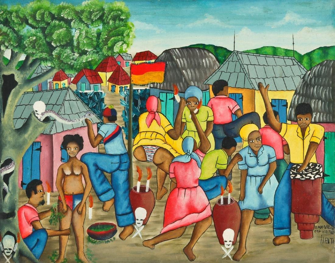 Emm Valcin (Haitian, 20th c.) Vodun Ceremony