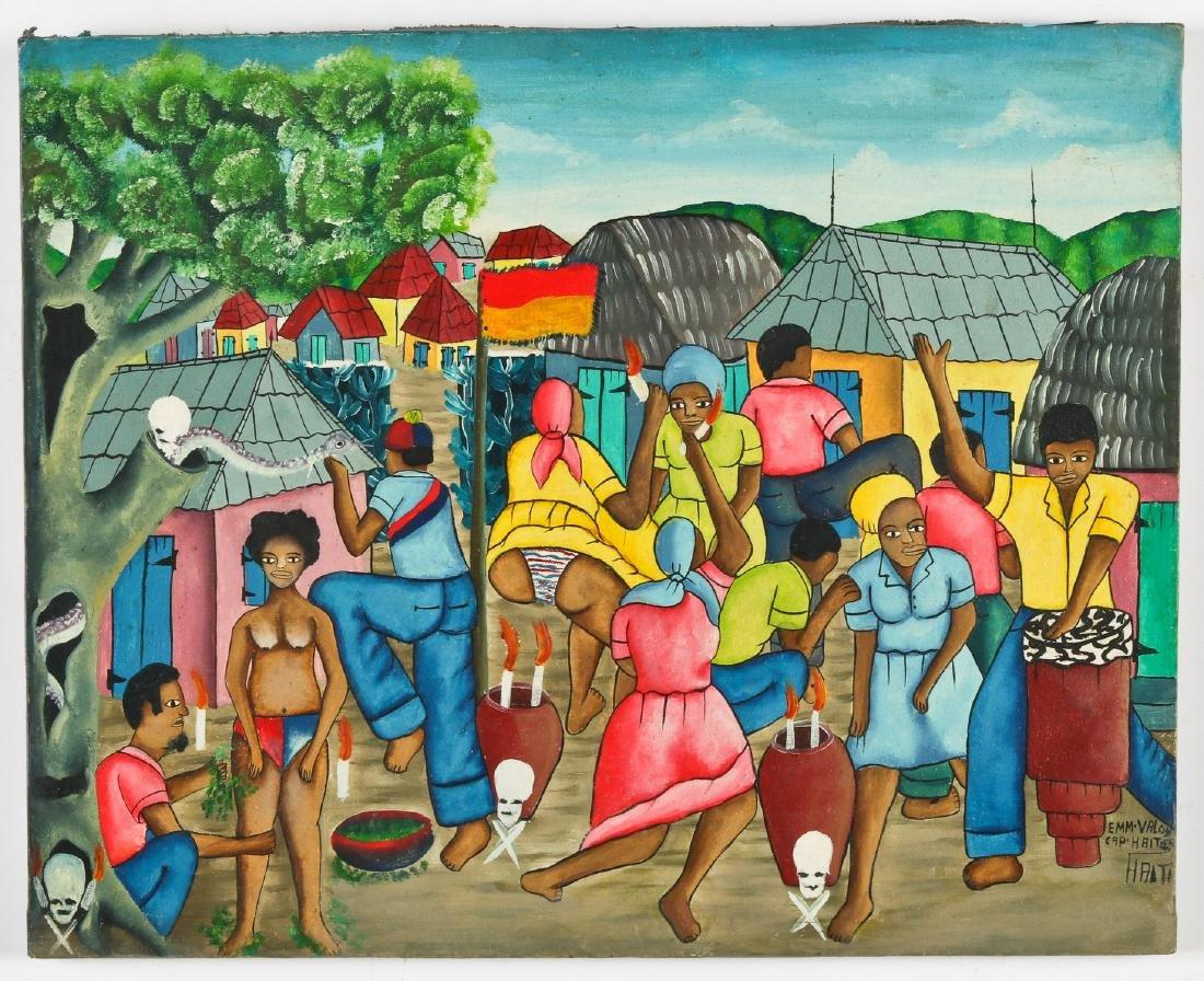 Emm Valcin (Haitian, 20th c.) Vodun Ceremony - 2