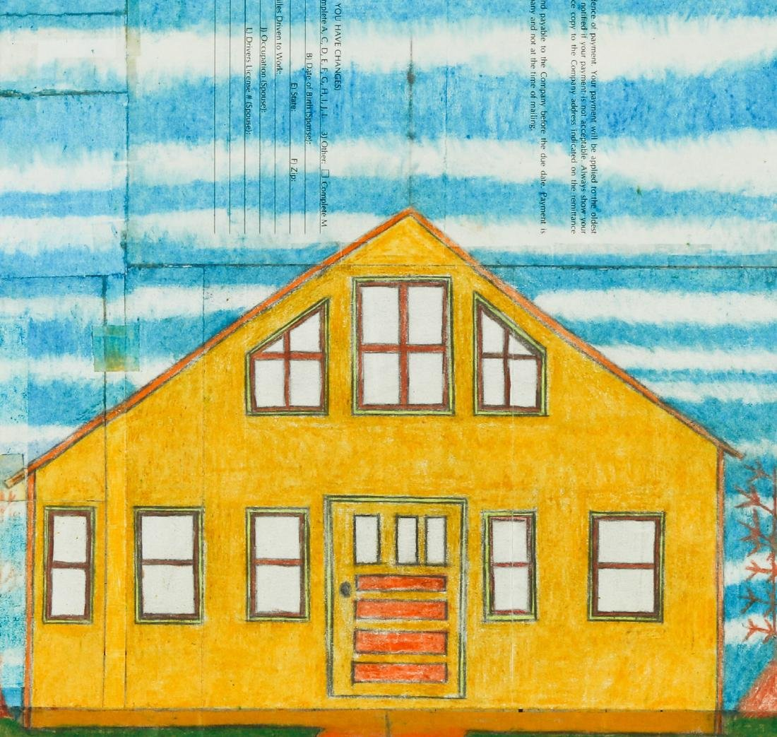 Jim Work (American, b. 1944) Yellow House